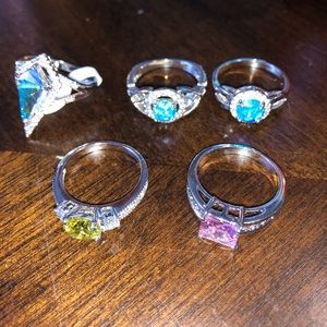 Set of 5 Fragrant Jewels Rings